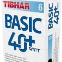 ПЛАСТИКОВЫЕ МЯЧИ TIBHAR BASIC 40+ SYNTT  в упаковке 6 шт.